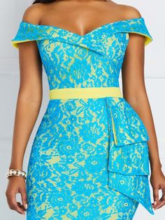 Bodycon Maxi Dress Formal Slash Neck Patchwork Long Bow Knot Off Shoulder Evening Mermaid Elegant Plus Size Slim Ruffles Lace Source by aitziklevy dresses videos African Wear Dresses, Latest African Fashion Dresses, African Attire, Ankara Fashion, Dress Fashion, Fashion Outfits, Lace Gown Styles, Plus Size Maxi Dresses, Short Dresses