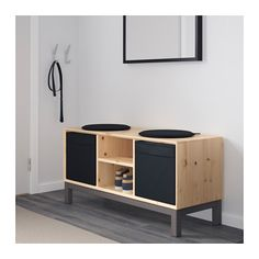 Ikea Banktruhe ikea nornäs bench with storage compartments made of solid wood