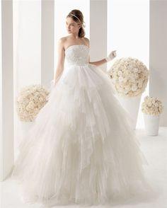 Empire Waist Bridal Sash Bridal Wedding Gown White Tulle Layer Ruffles Vestido De Noiva Appliqued Brush Train New Wedding Dress