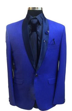 Modern Royal Blue Designer Blazer