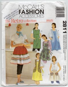 Apron With Back Wrap Tie Closure Contrast Variations by Rosie247