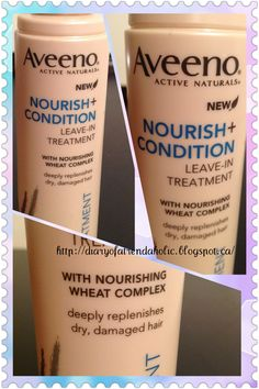 Aveeno Nourish + Condition Leave-in Treatment Review, helps moisturize, strengthen, and replenish dry damaged hair. This makes my hair feel so soft!