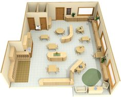 Free download of a Montessori classroom design.