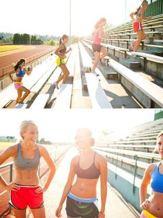 I want to run stairs like this with my friends!  ( just with modest shirts :)