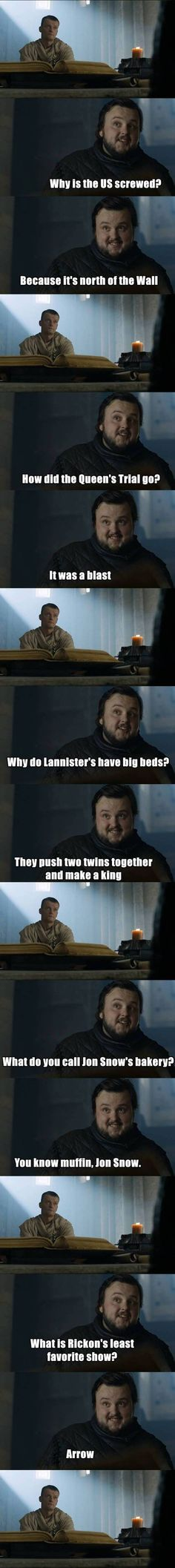 #Game #of #Thrones (Season 7) (2017) sam-citadel-memes 2. Game of thrones funny humour meme. Samwell Tarly