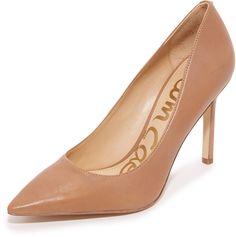 Sam Edelman pumps in a classic pointed-toe profile. Leather upper. Covered stiletto heel. Synthetic sole. <ul> <li>Leather: Cowhide.</li> <li>Imported, China.</li> <li>Measurements</li> <li>Heel: 3.75in / 95mm</li> </ul>