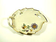 Vintage Porcelain Dish Leaf Dish Vintage by DKVINTAGEGALLERY