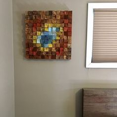 Rainbow Wood wall Art, 2019 trends, abstract painting on wood, wood art sculpture, reclaimed wood art Large Wood Wall Art, Reclaimed Wood Wall Art, Rustic Wood Walls, Rustic Wall Art, Large Art, Modern Wall Sculptures, Wood Sculpture, Wood Mosaic, Mosaic Art
