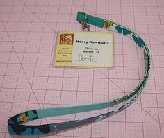 How to sew a fabric lanyard from Simply Cotton. I just whipped up two matching ones for a surprise Easter basket filler in 30 minutes.