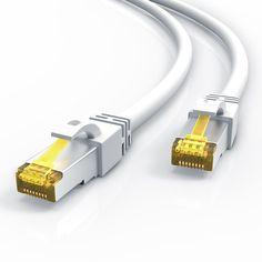 ^^ pour le télétravail :)  Uplink - 10m - CAT.7 600 MHz Ethernet Gigabit Lan câble réseau | LAN / patch câble avec fiches RJ45 | 10 / 100 / 1000 Mo/s | SF / FTP PIMF Blindage | compatible cat.5 / cat.5e / cat.6 | switch / router / modem / panneau de brassage / Access Point / panneau de brassage verticaux | blanc: Amazon.fr: Informatique