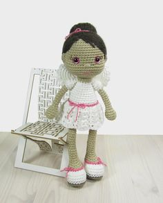 This written crochet pattern includes all the instructions needed to make your own angel doll. Includes one PDF file, 18 pages. Pattern is written
