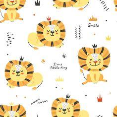 Cute Lion, Cat Pattern, Jungle Animals, Wild Ones, Stuffed Animal Patterns, Pattern Wallpaper, Cute Wallpapers, Lions, Art For Kids