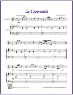 Le Carrousel | Free Sheet Music for Easy Clarinet
