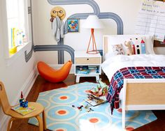 Large Hexagon – Sky Circle Dot Rug by kinder Modern 10 Colorful Rugs To Brighten Up Any Kids Room