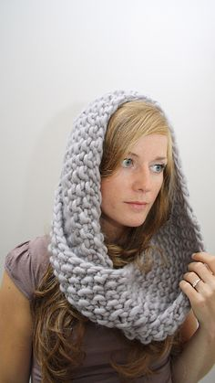 Quick knit mobius cowl/hood I made this in multicolor yarn. Gifted it to my grandmother. She loves it.