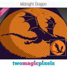 Happy Birthday Dragon, Dragon Silhouette, Little Dragon, Bobble Stitch, Yarn Brands, C2c, Yarn Colors, Yin Yang, Hama Beads
