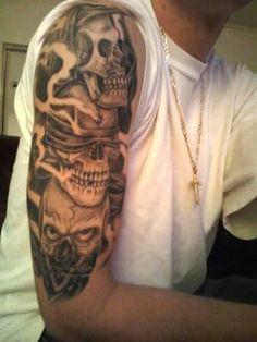 black and gray realism skull bandana tattoo custom tattoos pinterest gray skulls and black. Black Bedroom Furniture Sets. Home Design Ideas
