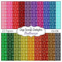 Bullseye I Digital Scrapbook  Scrapbook Paper by DigiScrapDelights