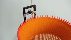 This 3D printed knitting machine is hypnotic! Don't want to DIY? Get the addi® Express!  http://lby.co/1IFLGoL Also available in Kingsize: http://lby.co/1JKjBvf