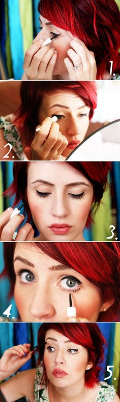 Good tutorial for liquid eye liner.