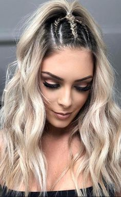 Side Braid Hairstyles, Quick Hairstyles, Hairstyles Haircuts, Gorgeous Hairstyles, Hairstyle Ideas, Step Hairstyle, Hair Ideas, Hairstyle Short, School Hairstyles