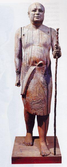 Скульптура Древнего Царства. Статуя Каапера («Сельский староста»). Каирский музей.