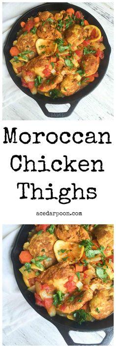 Moroccan Chicken Thighs // A Cedar Spoon