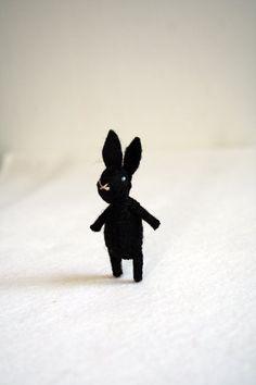 black magic bunny - brooch