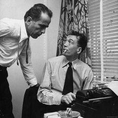 Humphrey Bogart and John Huston