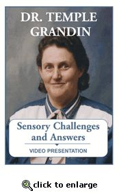 Watched this DVD very helpful for understanding a child w/ autism or sensory issues.  I love Temple Grandin!!