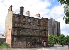 The last remaining 19th-century tenement in the Gorbals, Glasgow.