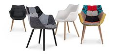 redoutable  chaise tissu noir