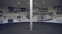 Sweet wall graphics typography by Joshua Blankenship (www.cargocollective.com/blankenship)