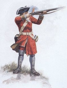 British soldier of the 40th infantry regiment, 1745