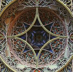 """Eric Standley - beautiful paper cut """"stained glass"""" windows"""