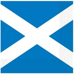 Scottish flag luncheon napkins are perfect for Burns Night parties
