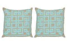 S/2 Palace 22x22 Pillows, Sky