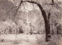 GEORGE FISKE  1835 - 1918 Winter in Yosemite. ca. 1880s