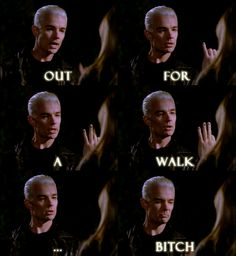 Favourite line in Buffy the Vampire Slayer.  Buffy: Why are you here, Spike? Five words or less.