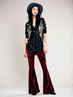 Free People Burnout Velvet Flare at Free People Clothing Boutique