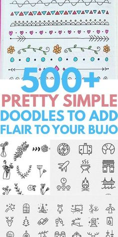 Simple easy DOODLES you will love to DIY in your notebook or bullet journal. Cute ideas from heart flower animals patterns Christmas holiday succulent plants dividers borders and more. Cool drawings that any artist can copy. Cute Easy Doodles, Cute Doodle Art, Doodle Art Designs, Easy Doodles To Draw, Notebook Doodles, Bujo Doodles, Doodle Art Journals, Doodling Journal, Calendar Doodles
