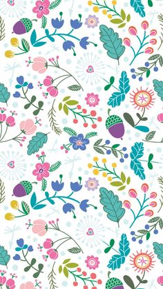 Spring pattern ★ Download more floral #Spring iPhone Wallpapers at @prettywallpaper