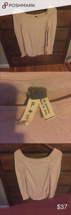 NWT Free people long sleeve top New with tags, blush pink Lola long sleeve top Free People Tops Tees - Long Sleeve