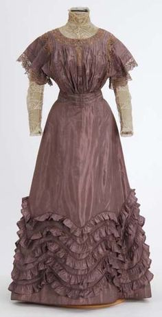 Lavender taffeta dress (front) by Minnesota Historical Society, via Flickr
