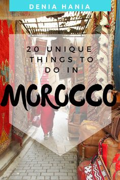 What is the first thing that comes to your mind when thinking of Morocco? Is it the camels and Bedouin tents and the endless desert? Well indeed all this is true but Morocco is so much more than that. Here are some of my favourite things to do in Morocco  www.deniahania.com