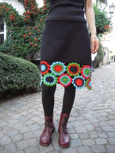 Add a finishing #crochet touch to your skirts!