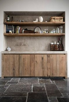concrete reclaimed wood