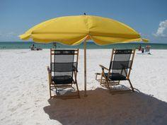 Beach umbrella on Clearwater Beach