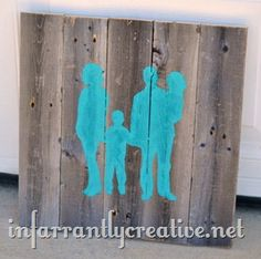 DIY Wall Art | Pallet art silhouette inspired by a wood art sign from Rosenberry Rooms