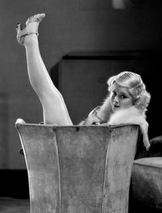 Mary Carlisle getting a leg or two up.